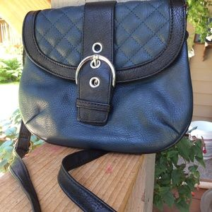Grace Adele crossbody. Silky lining blue/black